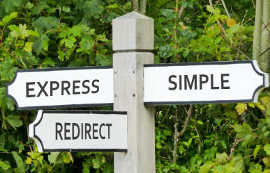 Express Simple Redirect